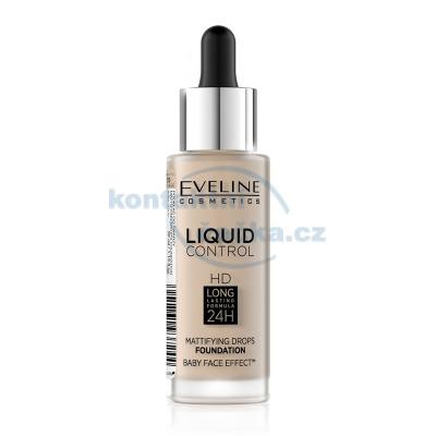 Eveline Liquid Control HD make-up s kapátkem 015 LIGHT VANILLA 32 ml