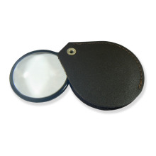 Lupa skleněná v hnědém koženém pouzdře LK45 zvětšení 4,5x