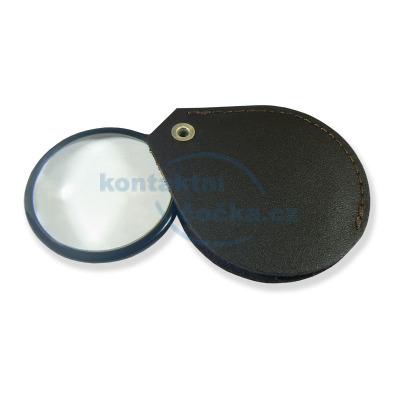 Lupa skleněná v pouzdře koženém LK45 - zvětšení 4,5x