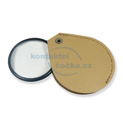 Lupa skleněná v koženém pouzdře LK45 - zvětšení 4,5x