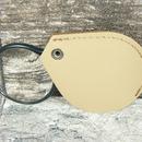 Lupa skleněná v koženém pouzdře LK45 - otevřená
