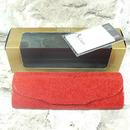 Luxusní dámské pouzdro na brýle z pravé kůže s mikrovláknem 800151 červené 1/3