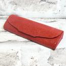 Luxusní dámské pouzdro na brýle z pravé kůže s mikrovláknem 800151 červené 2/3