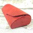 Luxusní dámské pouzdro na brýle z pravé kůže s mikrovláknem 800151 červené 3/3
