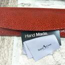 Luxusní dámské pouzdro na brýle červené z pravé kůže s mikrovláknem 800 126
