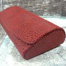 Luxusní dámské pouzdro na brýle z pravé kůže 800126 s mikrovláknem - červené