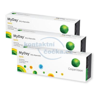 Jednodenní kontakní čočky CooperVision MyDay Toric (90 čoček)