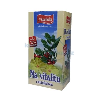 Bylinný čaj Apotheke Na vitalitu s kotvičníkem 20x 2 g
