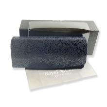 Luxusní dámské pouzdro na brýle z pravé kůže v mikrovláknem tmavě modré 800150