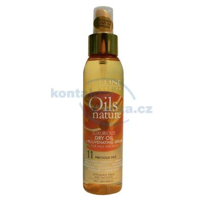 Eveline Oils of Nature Luxusní suchý olej + omlazující sérum na tvář i tělo 125 ml