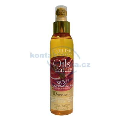 Eveline Oils of Natures Luxusní suchý olej + regenerační sérum na tvář i tělo 125 ml