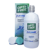 Roztok na kontakní čočky OPTI-FREE PureMoist 300 ml s pouzdrem