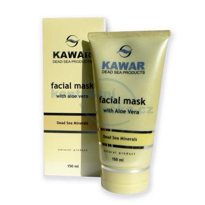Kawar pleťová maska s Aloe Vera a minerály z Mrtvého moře 150 ml