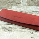Dámské odlehčené pouzdro na brýle 700073 - červené patentové