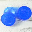 Pouzdro na čočky BAREVNÉ modré - otevřené