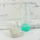 Pouzdro na tvrdé kontaktní čočky zelené - detail víčka pro uložení tvrdé kontaktní čočky