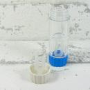 Pouzdro na tvrdé kontaktní čočky modré - detail víčka pro uložení tvrdé kontaktní čočky