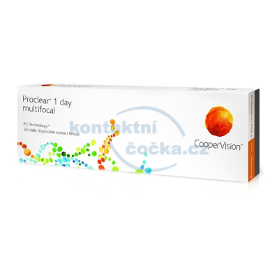 jednodenní multifokální kontaktní čočky Proclear 1 day multifocal (30 čoček)