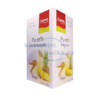 Bylinný čaj Apotheke Pu-erh a ananas 20x 2 g
