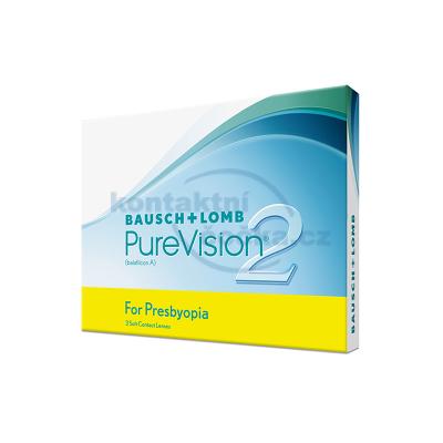 měsíční multifokální kontaktní čočky PureVision 2HD for Presbyopia (3 čočky)
