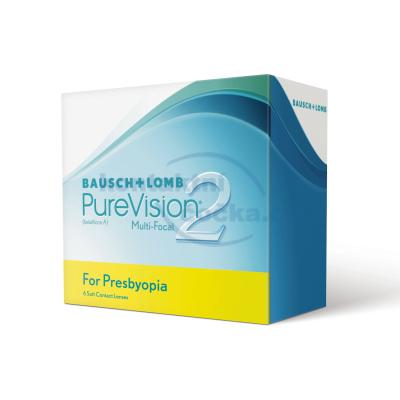 měsíční multifokální kontaktní čočky PureVision 2HD for Presbyopia (6 čoček)