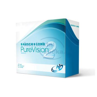 měsíční kontaktní čočky PureVision 2HD (6 čoček)