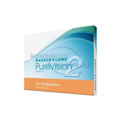 měsíční torické kontaktní čočky PureVision 2HD for Astigmatism (3 čočky)