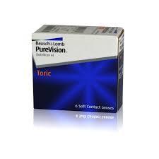 měsíční torické čočky PureVision Toric