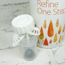 roztok na čočky Refine One Step 360 ml - detail pouzdra