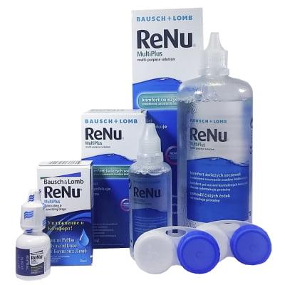 roztok na kontaktní čočky RENU MultiPlus 360 ml a 60 ml a oční kapky RENU 8 ml
