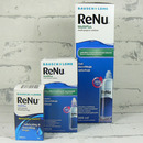 roztok na kontakní čočky ReNu MultiPlus 360 ml a 60 ml a oční kapky Renu Drops 8 ml - kruh 2