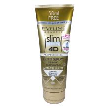 Eveline Slim 4D Gold serum 250 ml - chladivé sérum proti celulitidě na hubnutí a tvarování
