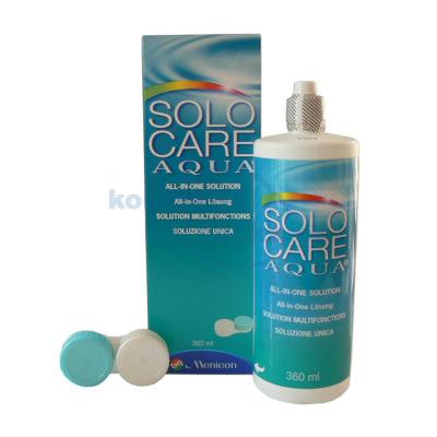 roztok na čočky SoloCare Aqua 360 ml s pouzdrem