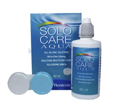 roztok na čočky SoloCare Aqua 90 ml s pouzdrem