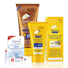 Sun Care Face Cream SPF 30 a Body Sun Milk SPF 20 a SoftBio lipstick SPF 20