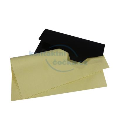 Feba Hadřík na brýle z mikrovlákna 18x15 cm v obalu - žlutý