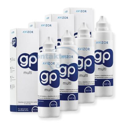 roztok na tvrdé kontaktní čočky Avizor GP MULTI 4x 240 ml