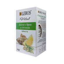 Bylinný čaj Leros Vital Zázvor s lípou a citronem 20x 1,5 g